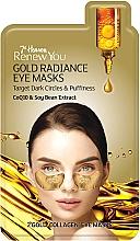 Perfumería y cosmética Parches para contorno de ojos de hidrogel con coenzima Q10 y extracto de soja - 7th Heaven Renew You Gold Radiance Eye Masks