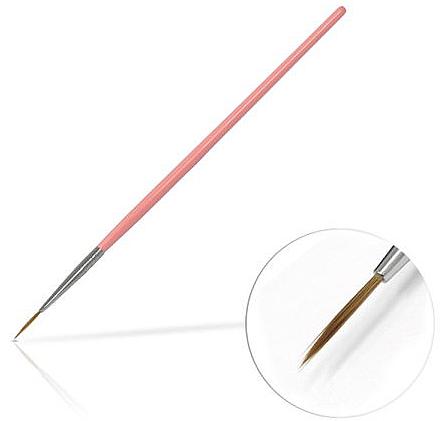 Pincel para decoración de uñas, 10mm - Silcare Brush 02 Pink