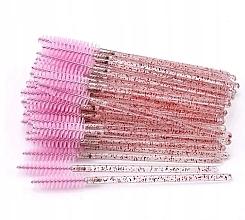 Perfumería y cosmética Cepillos desechables para pestañas y cejas, rosa translúcido - Lewer