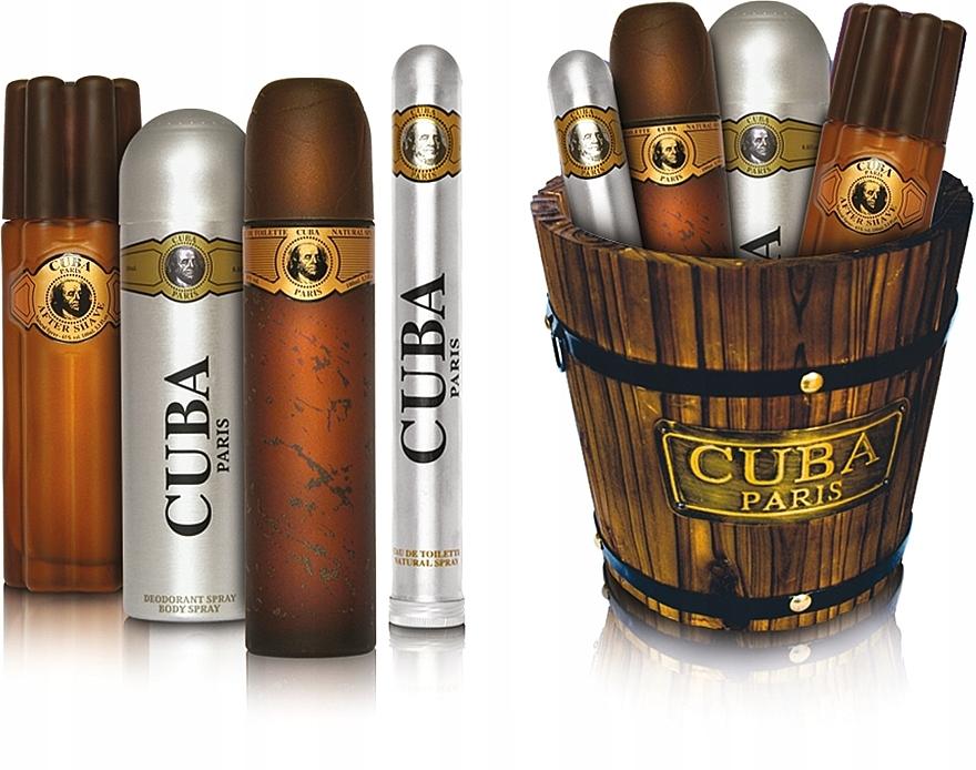 Cuba Gold - Set (eau de toilette/100ml + eau de toilette/35ml + loción aftershave/100ml + desodorante/200ml) — imagen N1
