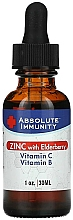 Perfumería y cosmética Complemento alimenticio para la inmunidad con zinc, baya del saúco, vitamina C y vitamina B - Absolute Nutrition Immunity Zinc With Elderberry Vitamin C & Vitamin B
