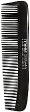 Perfumería y cosmética Peine de bolsillo para hombres, 12,5cm, negro - Titania Havannah