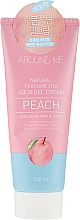 Perfumería y cosmética Crema corporal con extracto de melocotón - Welcos Around Me Aqua Gel Cream Peach