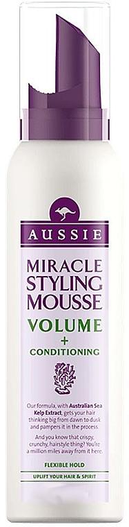Espuma para volumen del cabello con algas marinas - Aussie Mousse Miracle Styling For Volume & Conditioning — imagen N1