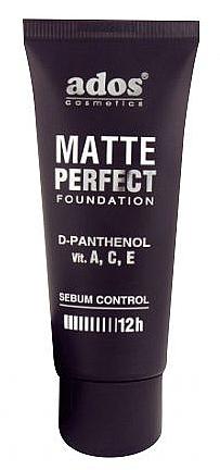 Base de maquillaje con D-pantenol y vitaminas - Ados Matte Perfect Foundation