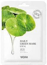Perfumería y cosmética Mascarilla facial de tejido con centella asiática - Yadah Daily Green Mask Cica