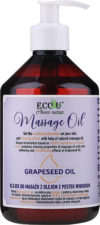 Aceite de masaje con uva y extracto de piña - Eco U Grapeseed Massage Oil