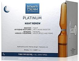 Perfumería y cosmética Ampollas faciales antienvejecimiento de noche con ácido hialurónico - MartiDerm Platinum Night Renew Ampollas