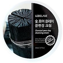 Perfumería y cosmética Crema de limpieza facial con extracto de carbón - Lebelage Charcoal Pore Clay Cleansing Cream