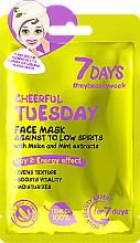 Perfumería y cosmética Mascarilla facial de tejido con extracto de melón y menta - 7 Days Cheerful Tuesday