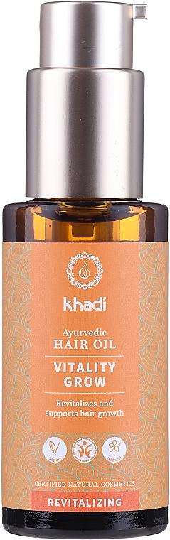 Aceite capilar natural revitalizante - Khadi Ayurvedic Vitality Grow Hair Oil
