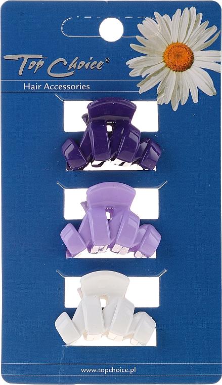 Pinzas de pelo 24122, blanca, lila, azul - Top Choice