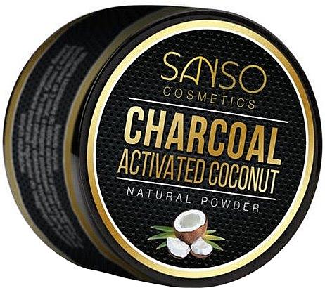 Blanqueador dental de carbón activo en polvo, natural - Sanso Cosmetics Charcoal Activated Coconut Natural Powder