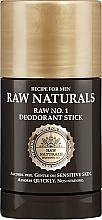 Perfumería y cosmética Desodorante stick sin alcohol - Recipe For Men RAW Naturals No. 1 Deodorant Stick