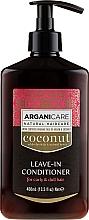 Perfumería y cosmética Acondicionador sin aclarado con aceite de argán & coco, rizos - Arganicare Coconut Leave-In Conditioner For Curly & Dull Hair