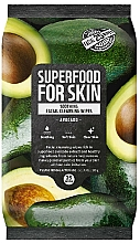 Perfumería y cosmética Toallitas húmedas calmantes de limpieza facial con extracto de aguacate - Superfood For Skin Fresh Food Facial Cleansing Wipes