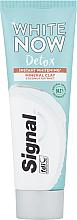 Perfumería y cosmética Pasta dental blanqueadora con extracto de coco y arcilla mineral - Signal White Now Detox Toothpaste