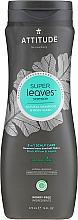 Perfumería y cosmética Champú & Gel de ducha para hombres con sauce negro - Attitude Super Leaves Natural Shampoo & Body Wash 2-in-1 Scalp Care