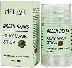 Perfumería y cosmética Mascarilla stick facial antiacné con arcilla, Judías verdes - Melao Green Beans Clay Mask Stick