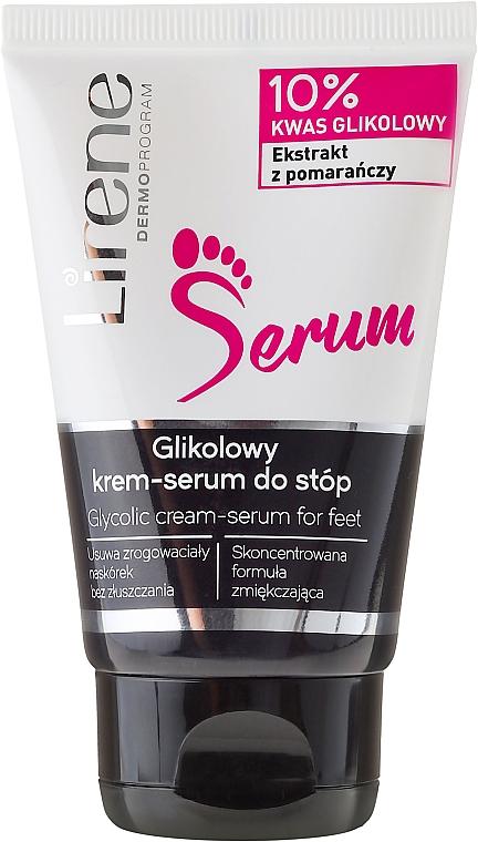 Crema-sérum para pies con ácido glicólico y extracto de naranja - Lirene Glycolic Cream-Serum For Feet