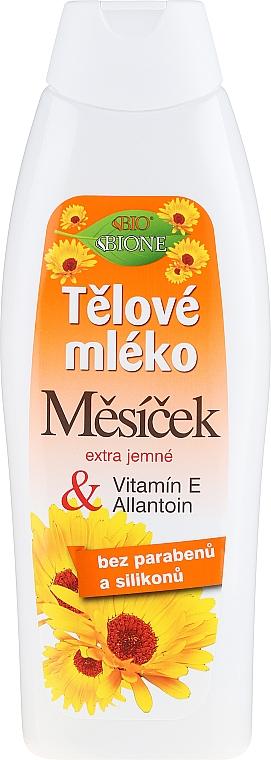 Leche corporal de caléndula con vitamina E y alantoína - Bione Cosmetics Marigold Hydrating Body Lotion With Vitamin E and Allantoin