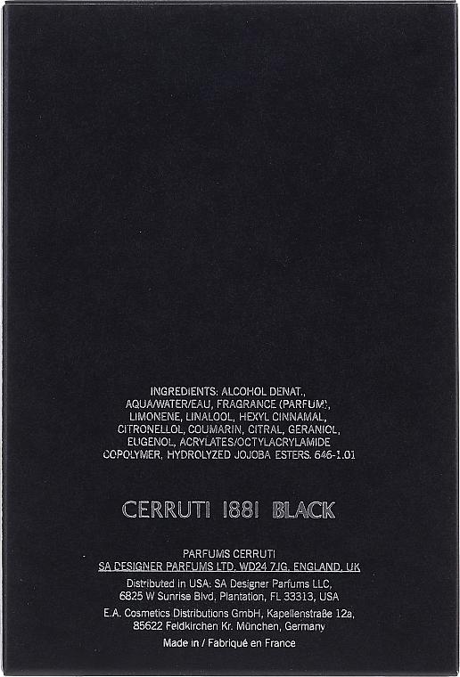 Cerruti 1881 Black - Eau de toilette — imagen N2
