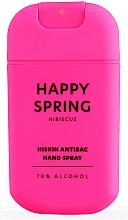 Perfumería y cosmética Spray de manos antibacteriano, aroma a hibisco - HiSkin Antibac Hand Spray Happy Spring
