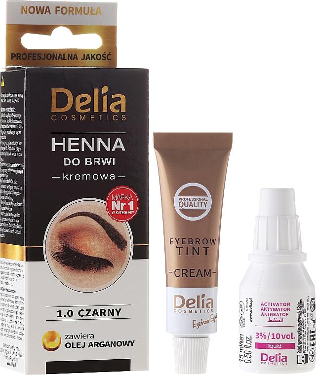 Crema colorante para cejas con aceite de argán - Delia Cosmetics Cream Eyebrow Dye