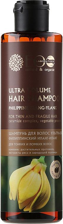 Champú voluminizador regenerador con aceite de ylang-ylang - ECO Laboratorie Ultra Volume Hair Shampoo — imagen N1