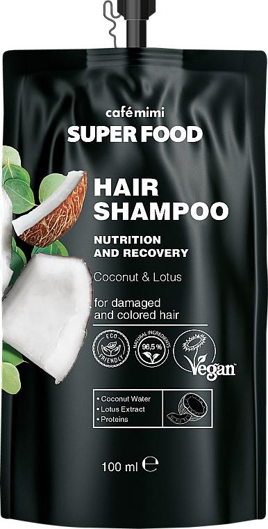 Champú nutritivo con agua de coco y extracto de loto - Cafe Mimi Super Food Shampoo