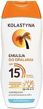 Perfumería y cosmética Emulsión protectora solar con pantenol, resistente al agua SPF15 - Kolastyna Emulsion SPF 15