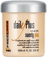 Perfumería y cosmética Mascarilla para cabello indisciplinado con proteínas de almendras dulces - Freelimix Daily Plus Sweety Plus Mask