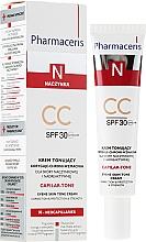 Perfumería y cosmética CC crema facial con extracto de cardo y ácido hialurónico, SPF30 - Pharmaceris N Capilar-tone CC Cream SPF 30