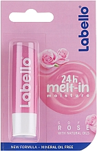Perfumería y cosmética Bálsamo labial con aceite de rosa - Labello Lip Care Soft Rose Lip Balm