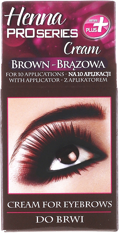 Henna - Tinte para cejas de uso profesional con aplicador