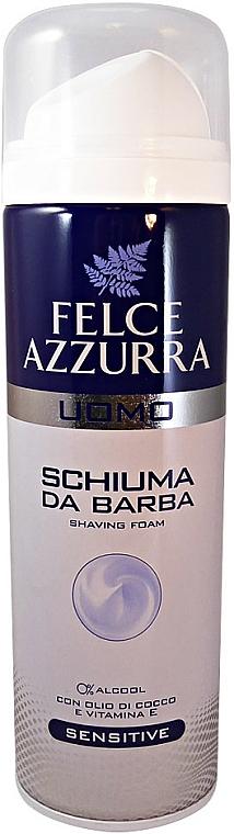 Espuma de afeitar con aceite de coco y vitamina E - Felce Azzurra Men Sensitive Shaving Foam