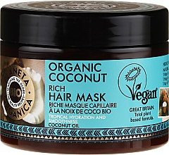 Perfumería y cosmética Mascarilla capilar orgánica con aceite de coco & extracto de flor de naranjo - Planeta Organica Organic Coconut Rich Hair Mask