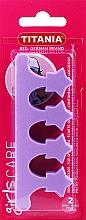 Perfumería y cosmética Separadores para pedicura, violeta - Titania