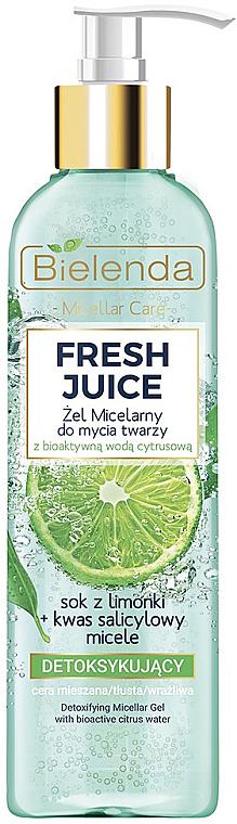 Gel micelar facial con jugo de lima y ácido salicílico - Bielenda Fresh Juice Detox Lime