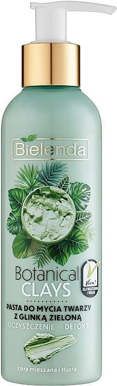 Pasta de limpieza facial vegana con arcilla verde - Bielenda Botanical Clays Vegan Face Wash Paste Green Clay