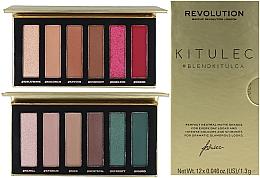 Perfumería y cosmética Set de paletas sombras de ojos (2xsombras de ojos/7.8g) - Makeup Revolution Kitulec #BlendKitulca Shadow Palette