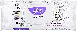 Perfumería y cosmética Toallitas húmedas hipoalergénicas para bebés con extracto de aloe - Bella Baby Happy Sensitive & Aloe Vera