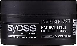 Perfumería y cosmética Gel modelador de cabello con acabado natural sin alcohol ni siliconas - Syoss Invisible Paste Hair Styling Structuring Gel