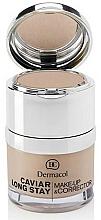 Perfumería y cosmética Maquillaje y corrector 2 en 1 hipoalergénico con extracto de caviar y ceramidas, acabado mate - Dermacol Caviar Long Stay Make-Up & Corrector