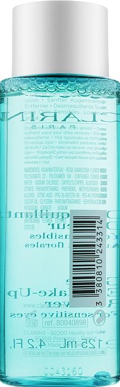 Desmaquillante para ojos con aciano y rosa orgánica - Clarins Gentle Eye Make-Up Remover Lotion — imagen N2