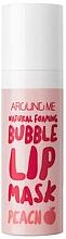 Perfumería y cosmética Mascarilla labial con extracto de melocotón y burbujas finas - Welcos Natural Foaming Bubble Lip Mask Peach