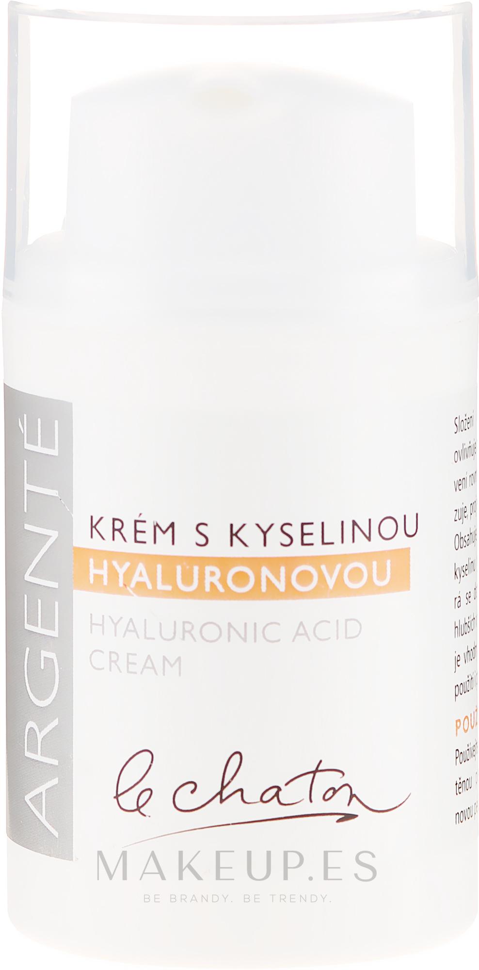 Crema facial hidratante con ácido hialurónico - Le Chaton Argente Moisturizer With Hyaluronic Acid — imagen 50 g