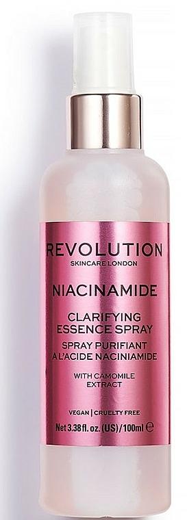 Spray facial purificante con extracto de camomila - Makeup Revolution Niacinamide Clarifying Essence Spray