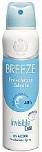 Perfumería y cosmética Breeze Deo Freschezza Talcata - Desodorante spray antimanchas con 0% alcohol