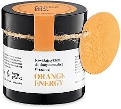 Perfumería y cosmética Crema facial hidratante con aceite de mandarina y extracto de camomila - Make Me BIO Orange Energy